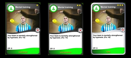 Mental training cards
