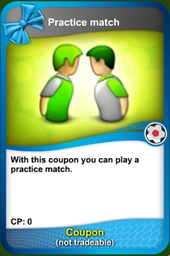 Practice match coupon