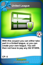 United league coupon